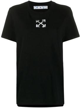 Spray Arrow Logo T-shirt BLACK/ WHITE