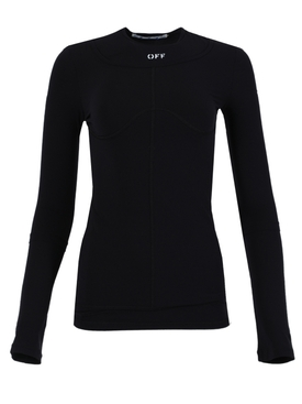 Black second skin long sleeve top
