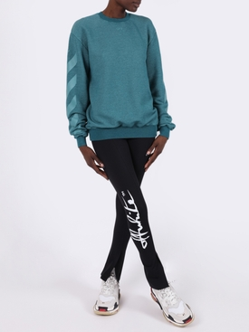 Striped Sleeve Crewneck Sweatshirt