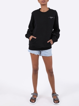 Black and white coral logo sweatshirt