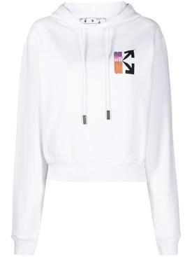Gradient Logo Hoodie WHITE/MULTICOLOR
