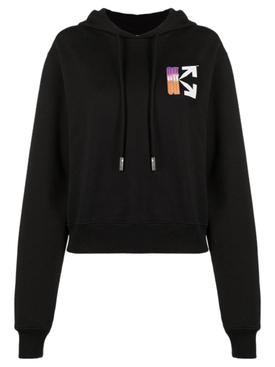 Gradient Logo Hoodie BLACK/MULTICOLOR