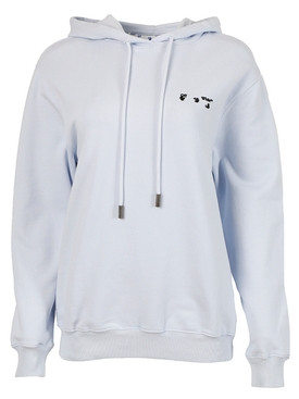 RELAXED SHAPE LOGO HOODIE, LILAC AND BLACK