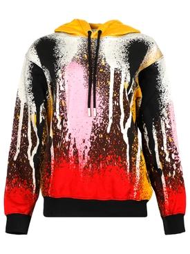 X Katsu spray paint hoodie