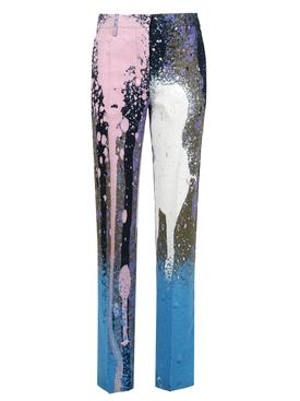 X Katsu Paint Splatter Straight-leg Pant Violet Purple