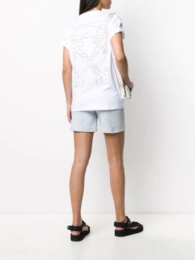 Light Blue Jacquard Logo Shorts