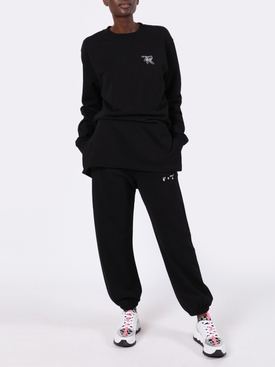 Slim logo sweatpants BLACK/WHITE