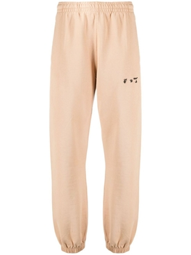 OW Logo Slim-fit Sweatpant, Sand and Black