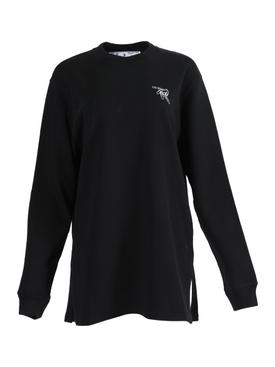 Paper clip logo dress BLACK/WHITE