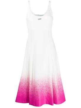 Degrade Elastic Dress White