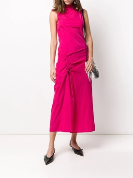 Fuchsia High Neck Dress
