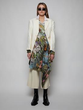BOTANIC DRAPED SHIRT DRESS