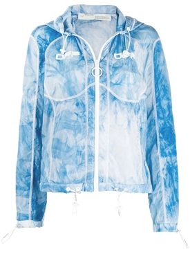 Blue Tie-Dye Logo Windbreaker