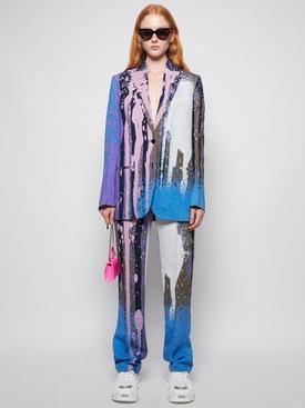 X Katsu Paint Splatter Tomboy Blazer Jacket Violet Purple