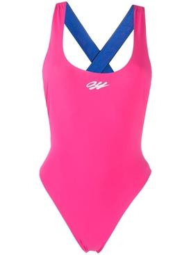 Tape Swimsuit FUCHSIA