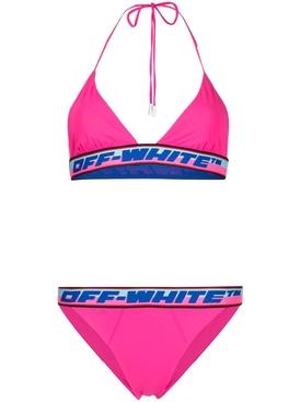 Tape Trim Bikini FUCHSIA