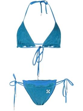 TOWEL TRIANGLE BIKINI, BLUE