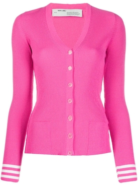 KNIT INDUSTRIAL CARDIGAN FUCHSIA