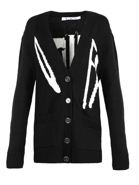 Black and white graffiti cardigan