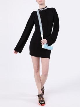 Industrial Knit Mini Dress Black