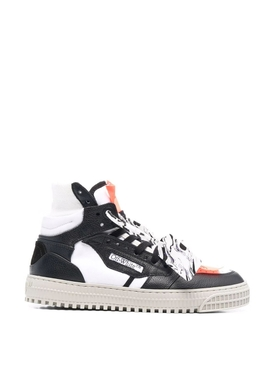 3.0 OFF COURT LEATHER SNEAKER White and Black