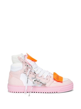 3.0 OFF COURT LEATHER SNEAKER White and Pink