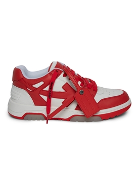 Out Of Office low-top sneaker RED AND WHITE