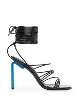 Allen wrap-ankle sandals black