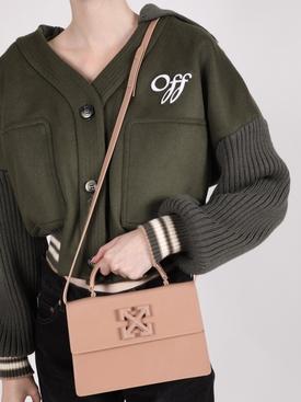 Nude patent leather Jitney 1.4 handbag
