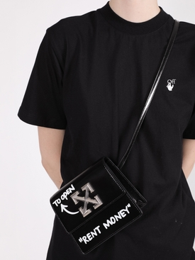 "Black 0.7 Jitney ""Rent Money"" bag"