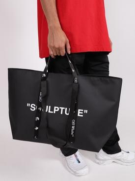 Arrow Commercial Tote Bag BLACK & WHITE