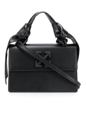 Off-white - Black Knotted Jitney 1.4 Bag - Women