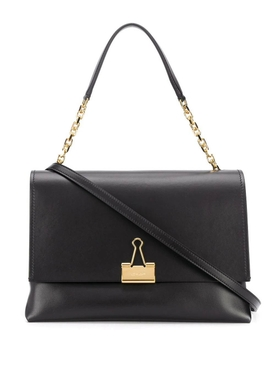 Off-white - Paperclip Leather Shoulder Bag - Women
