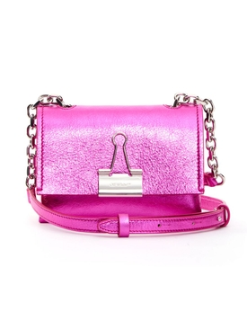 Laminate Small Metallic Bag Fuchsia