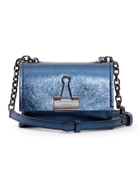 Laminate Small Metallic Bag Anthracite Blue