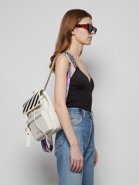 DIAGONAL TWO-TONE BACKPACK BLACK AND WHITE