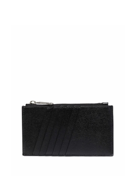 Binder Card Case with Pocket Black and White