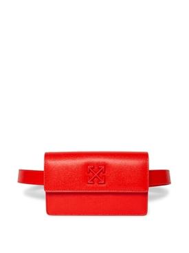 JITNEY 0.8 SAFFIANO BELT BAG RED