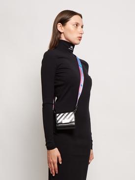 MINI LIPSTICK CREDIT CARD BAG BLACK AND WHITE
