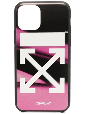 Black and fuchsia 11 Pro iPhone cover