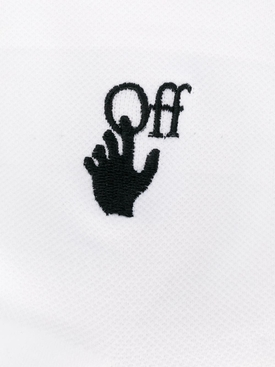White hand logo short socks