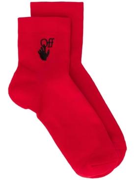 New Logo Ankle Socks RED/ BLACK