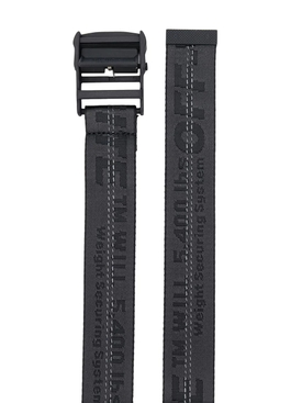 Industrial contrasting logo belt BLACK