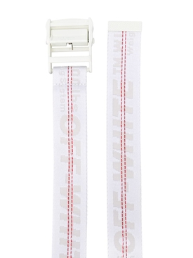 Industrial contrasting logo belt WHITE