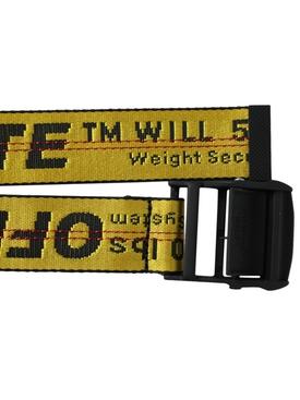 Industrial contrasting logo belt YELLOW/BLACK