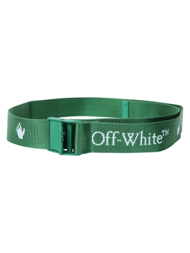 Logo print buckle belt GREEN