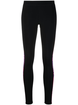 Tape detail leggings BLACK