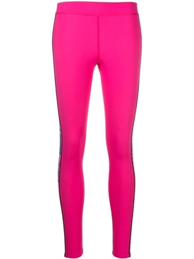 Tape detail leggings FUCHSIA