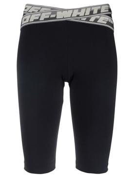 Athletic Logo Band Shorts Black