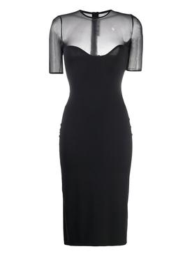Athleisure dress, Black